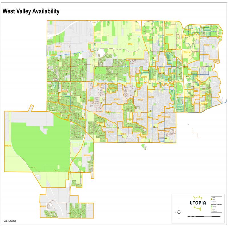 West Valley City Availability Map