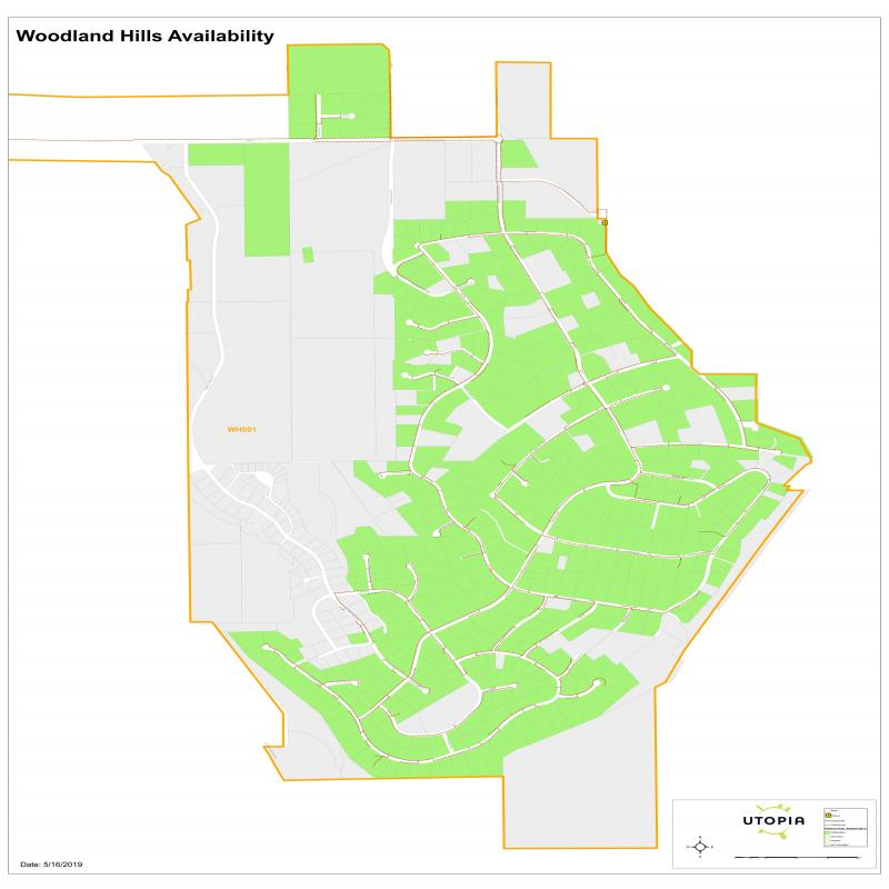 Woodland Hills Availability Map
